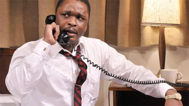 Bowman Wright stars as Dr. Martin Luther King, Jr. in The Mountaintop, which is set in the late civil rights leader's Memphis hotel room on the night he died.