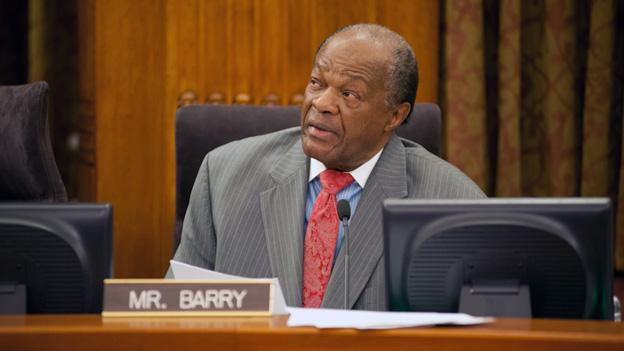 Councilmember Marion Barry tweeted from the hospital that he was being kept in a hospital overnight for observation.