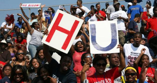 Howard University fans cheer on their football team at a 2007 home game. Some athletes in the college's atheltics program are now under investigation for possible violations of NCAA rules, and have been suspended from participating in athletic programs for the time being.