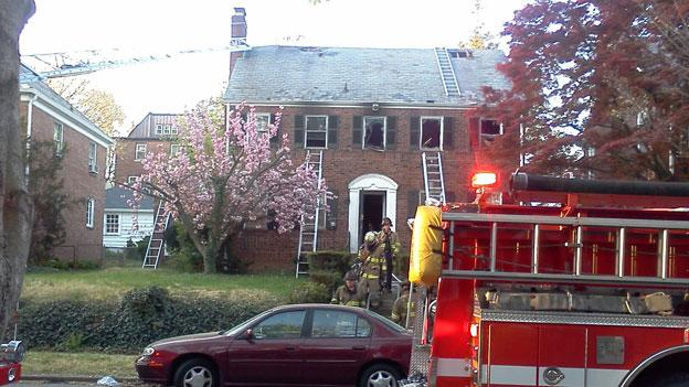 A house fire ravaged a home on Locust St. NW early in the morning of April 5.