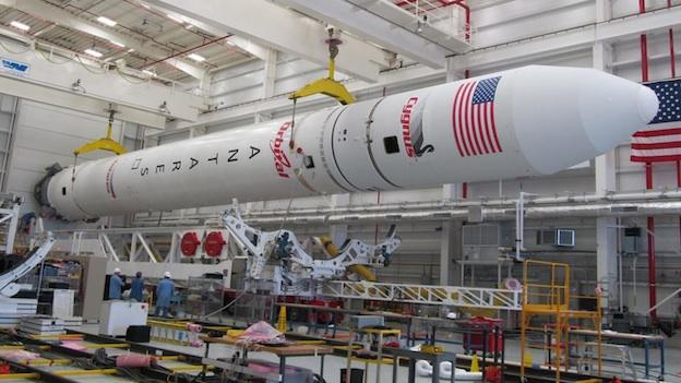 The Antares Rocket stands 133 feet tall and 13 feet in diameter.