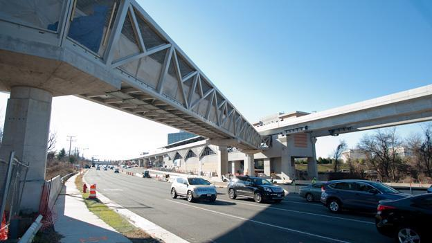 Phase I of the Silver Line, shown here in Tysons Corner, is nearly complete, as bids start to come in for the next phase.