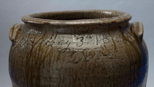 "A jar made by a former slave in South Carolina serves as part of the section on slavery in the new ""American Stories"" exhibit at the National Museum of American History."