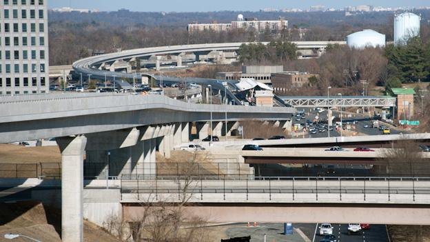 Bechtel Infrastructure, one of the five bidders for Phase II of the Silver Line, was the contractor for Phase I, including the Tysons Corner Metro, pictured.