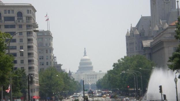 D.C.'s building heights rule, enacted decades ago to preserve city vistas of landmarks such as the U.S. Capitol, shown here, could be relaxed in the coming years.