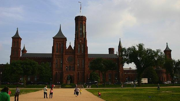 The Smithsonian Castle sits on the National Mall in Washington, D.C.