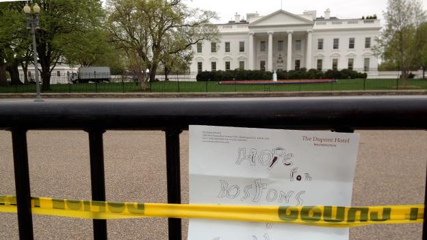 The White House was closed to pedestrian traffic Monday as enhanced security measures were put in place.