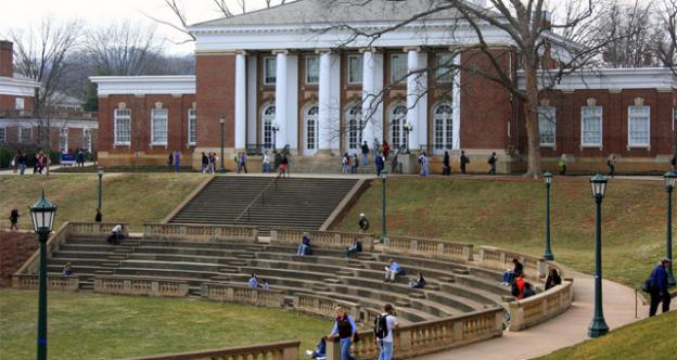 Critics say schools like the University of Virginia, pictured, shouldn't let the pursuit of profit overtake their other obligations.