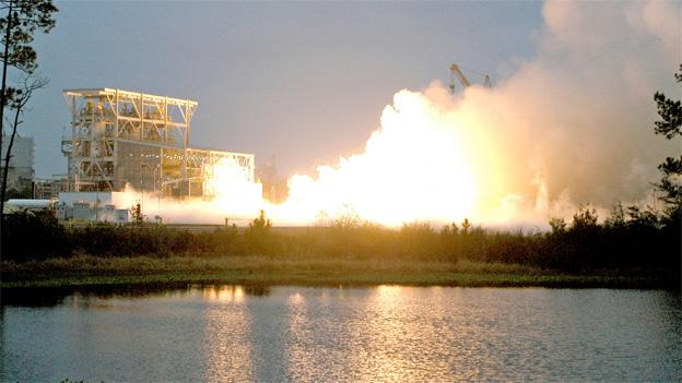"OSC conducted a successful ""hot fire"" test of the Antares rocket in February."