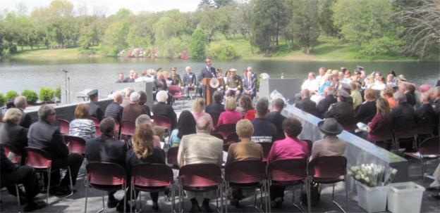 The dedication ceremony for the memorial to Maryland public servants who died in the line of duty in Gaithersburg, Md.