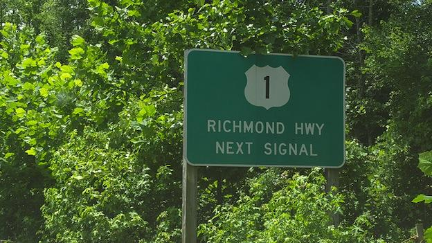 Fairfax County residents are divided over what this road is called. Route 1... or Richmond Highway?