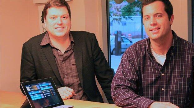 TransitScreen founders, Matt Caywood, president, and Ryan Croft, VP of Business Development.