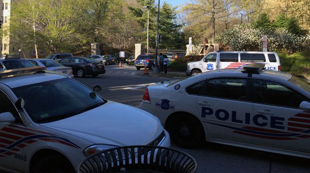 Two men have been shot outside the National Zoo.