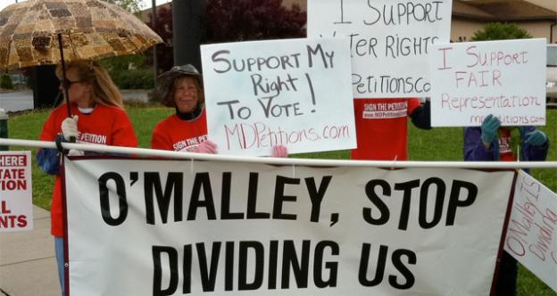 Activists with MDPetitions.com rallied in the rain in Hagerstown, Md. to call for a referendum on same-sex marriage.