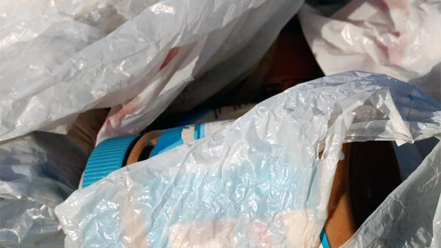 Plastic bags may not come with the 5-cent tax if they're not used for food shopping.