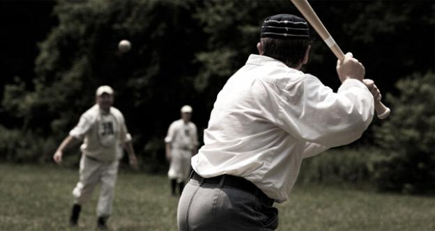 Vintage base ball players in Lewes, Del. are keeping the proud tradition, and old-fashioned rules, of the 1800s game alive. Pictured, two teams from Bronx, NY take to the field in 2011.
