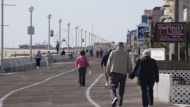 Ocean City's new boardwalk is almost complete.