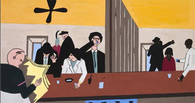 Jacob Lawrence's 'Bar and Grill' is featured in the American Art Museum's new exhibit of African American art.