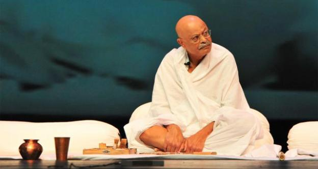 "D.C. CFO Natwar Gandhi in his first role playing Mahatma Gandhi in ""A Tryst With Destiny"""