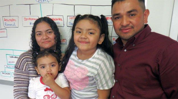 Catia Paz Alvarez, left, with her husband and two U.S.-born children.