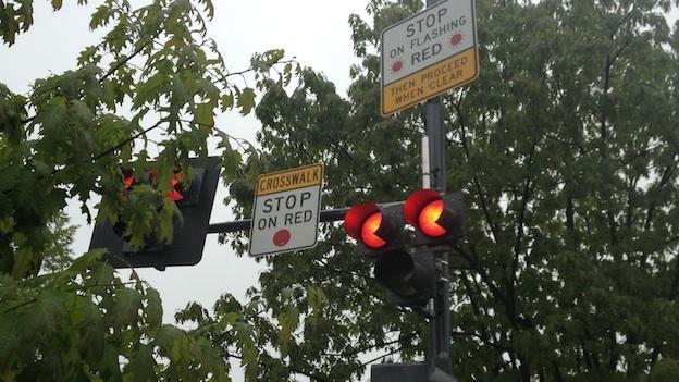 D.C. transportation officials unveiled a new crosswalk signal to improve pedestrian safety.