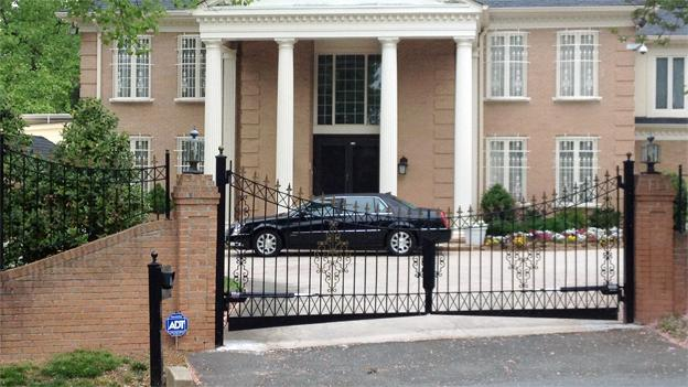 The home in question is located about a mile from CIA headquarters in Fairfax County.