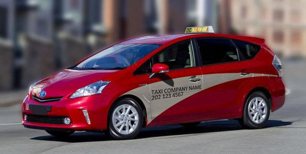 A rendering of the proposed uniform color scheme for D.C. taxicabs.