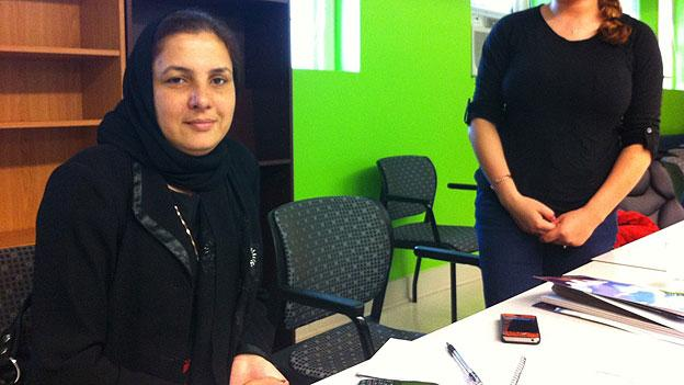 Shukria Khaliqi is a legal advisor at Women for Afghan Women domestic violence shelter in Kabul, Afghanistan. She received training and guidance on how to improve her services at D.C.'s largest shelter, District Alliance for Safe Housing, Inc.