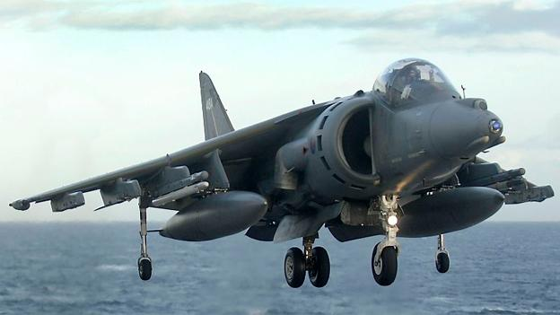 The Harrier jet is noted for its ability to perform a vertical takeoff.