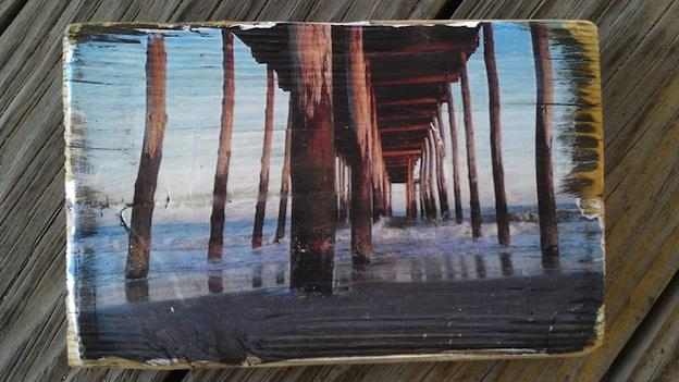 "Shown above is one of Chris Maxa's ""Boardwalked"" creations  — art created from a piece of Ocean City's boardwalk."