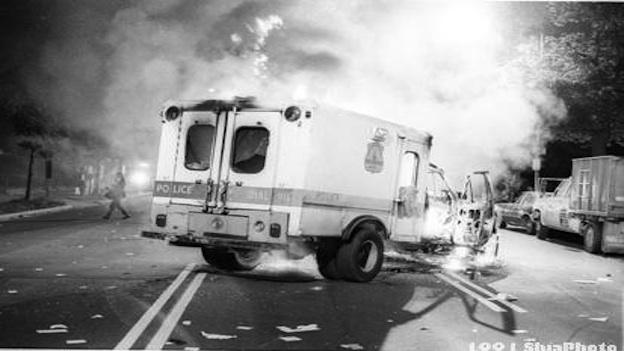 Mount Pleasant rioters destroyed more than 20 police vehicles, costing MPD more than $600,000 in damages alone.