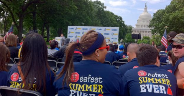 Washington D.C. played host to the U.S. launch of Global Youth Traffic Safety Month on Tuesday.