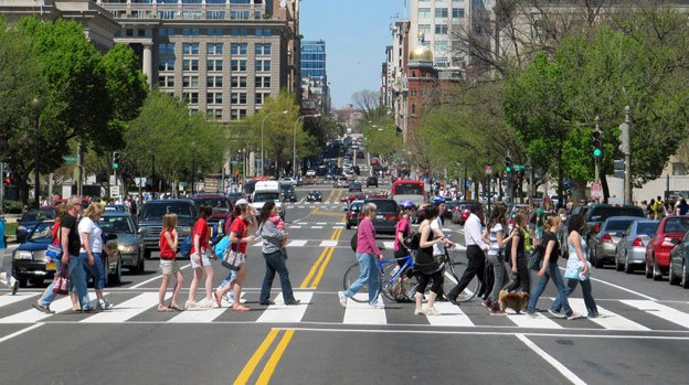 In D.C., more people use their feet to get to work than most large U.S. cities.