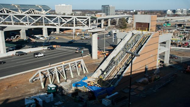 There will only be temporary parking when the Tysons Corner Silver Line stations open in at the end of the year.
