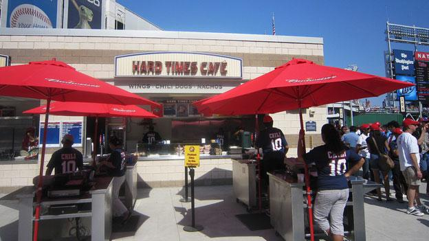 Baseball fans have a lot of options to choose from at Nationals Park — including D.C. area favorite Hard Times Cafe.