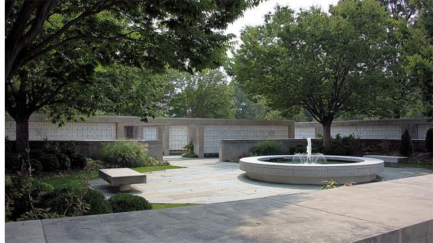 The courtyard of Court 1 of the Columbarium Complex at Arlington National Cemetery