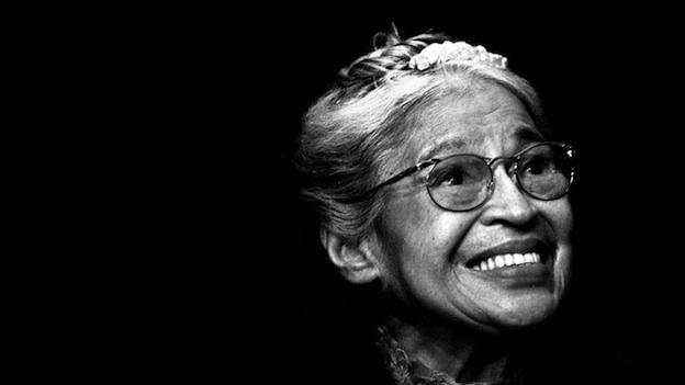 In this Nov. 28, 1999 file photo, Rosa Parks smiles during a ceremony where she received the Congressional Medal of Freedom in Detroit.
