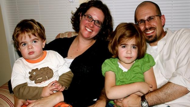 This McNeil family photo was taken in 2008, the year the kids were diagnosed with MPS III (from left to right: Oliver, Shannon, Waverly, Matt).