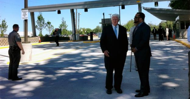Rep. Jim Moran toured the Defense Health Headquarters along U.S. 50 in Virginia.