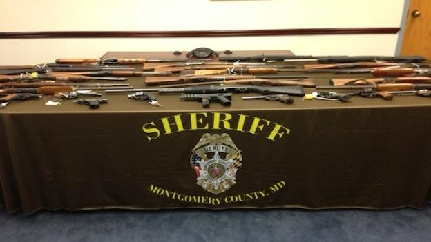 Montgomery County sheriff deputies carted dozens of pistols, shotguns and rifles to an incinerator last week.