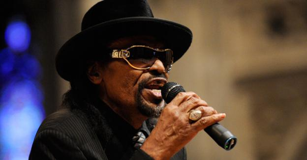 Master of ceremonies Chuck Brown speaks during a program to celebrate the legacy of the late Martin Luther King, Jr. Brown's own legacy will be celebrated Saturday at the Folklife Festival.