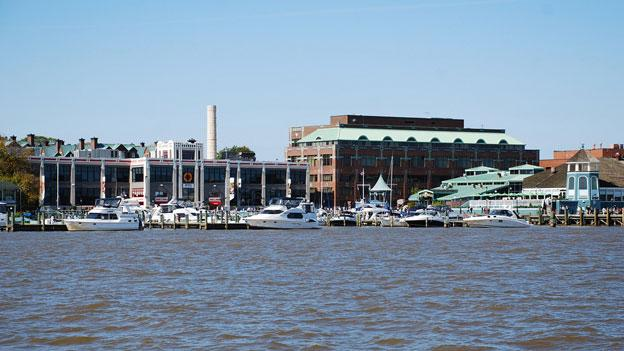 A view of some of the development that's already along the Potomac Riverfront in Alexandria.