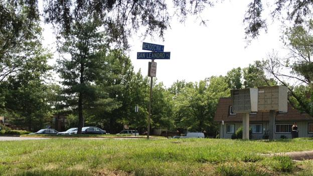 Police responded to this intersection in the Mount Vernon district of Fairfax County last night and found a man shot and killed.