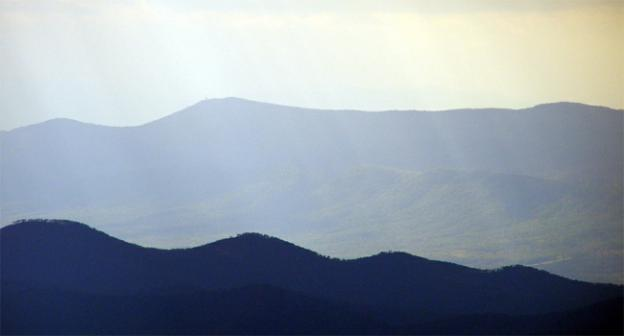 The Shenandoah Valley is far from the D.C. area, but fires there, not pictured, are sending a smoky scent our way.