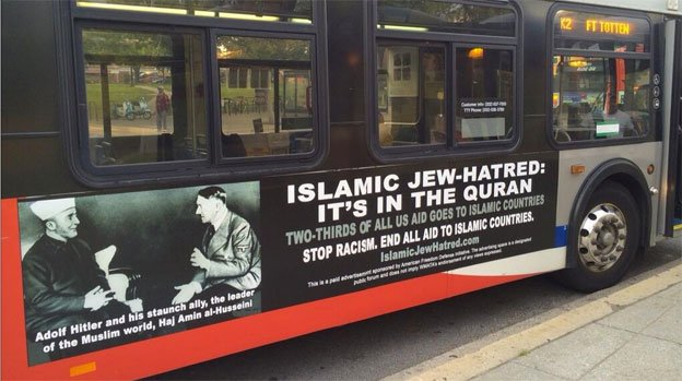 Metro was unable to turn down the AFDI ads featuring Haj Amin al-Husseini and Adolf Hitler on free speech grounds.
