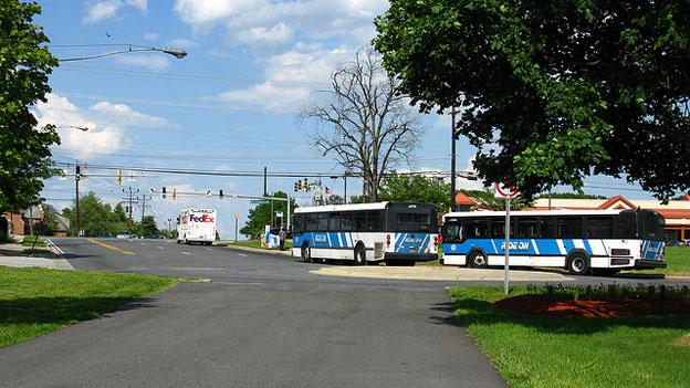 The new bus rapid transit system would supplement Montgomery County's existing Ride On buses.