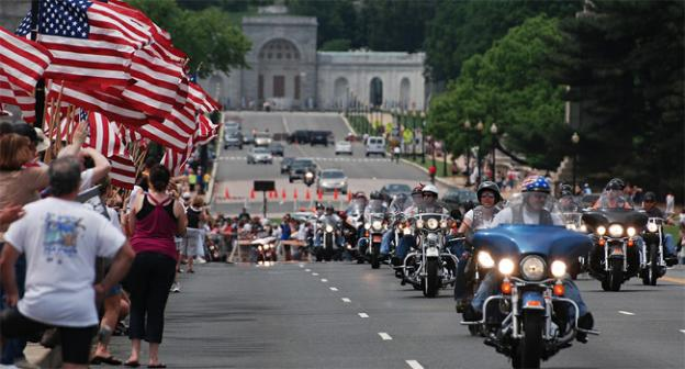The Rolling Thunder Memorial Day parade is quite the sight — unless, that is, you're stuck in your car because of it.