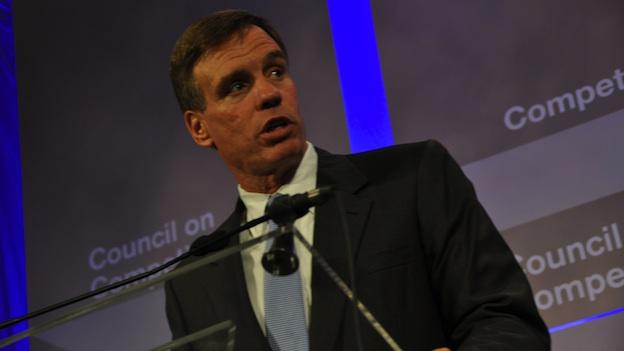 Sen. Mark Warner is polling well ahead of both Republican candidates for Virginia governor.