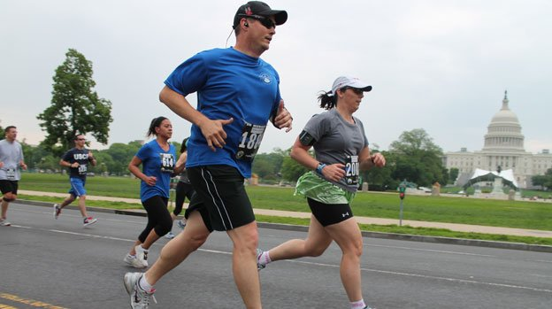 Runs like the National Police Week 5K are helping keep D.C. area residents at the top of the charts.