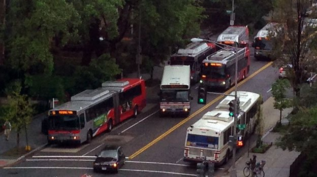 Overcrowding on Metro's S line has added urgency to calls for a bus lane on 16th Street.